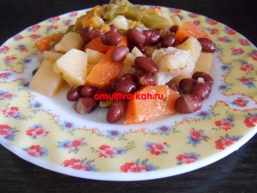 Овощное рагу с фасолью в мультиварке (рецепт с фото)