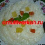 Каша рисовая молочная в мультиварке (рецепт с фото)