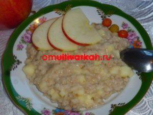 Каша геркулесовая в мультиварке с яблоком (рецепт с фото)