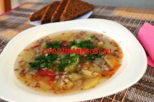 Гречневый суп с куриными крылышками и цветной капустой (рецепт с фото)
