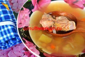 Суп фасолевый с индюшкой в мультиварке (рецепт с фото)