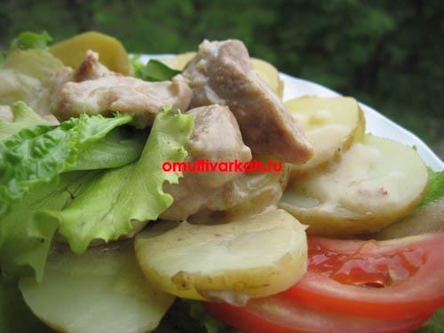 Блюдо-дуэт мясо и молодой картофель на пару в мультиварке REDMOND RMC-M4524 (рецепт с фото)