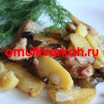 Жаркое с грибами шампиньонами в мультиварке Philips (рецепт с фото)