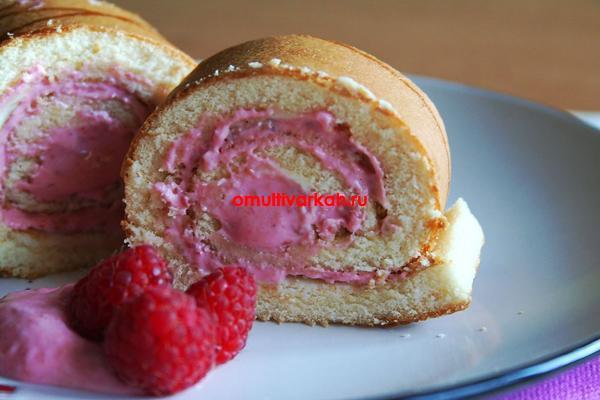 Бисквитный рулет (рецепт с фото)