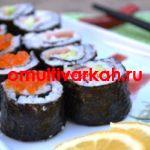 Маки ролл с лососем и огурцом с помощью мультиварки  (рецепт с фото)